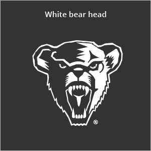 white Bear head