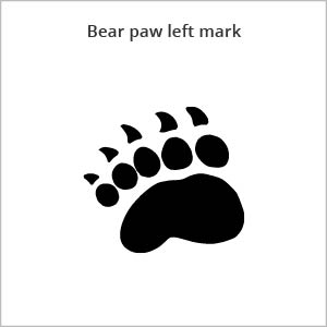 bear paw left mark