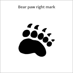 bear paw right mark