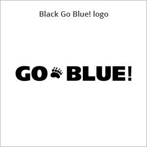 black Go Blue! logo