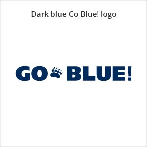 dark blue Go Blue! logo