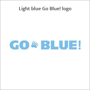 light blue Go Blue! logo