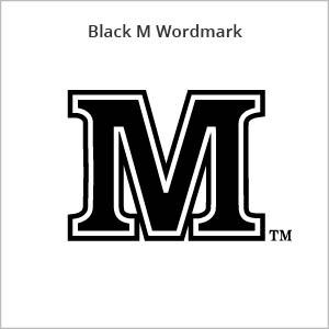 black M wordmark