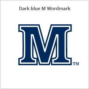 dark blue M wordmark