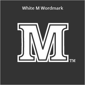 white M wordmark