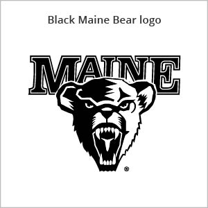 black Maine bear logo