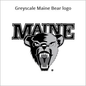 grey Maine bear logo