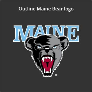 outline Maine bear logo