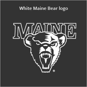 white Maine bear logo