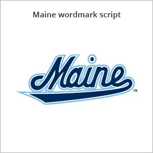 Maine wordmark script