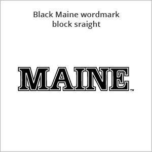 black Maine wordmark block straight