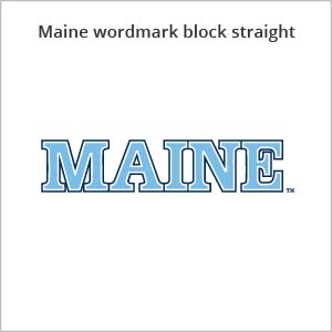Maine wordmark block straight