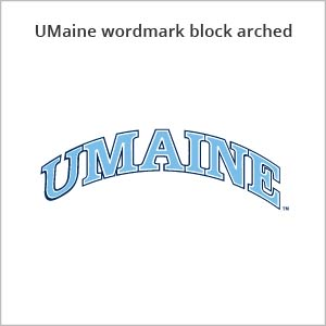 UMaine wordmark block arched