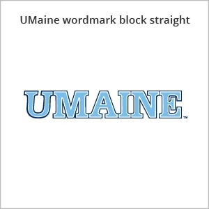 UMaine wordmark block straight