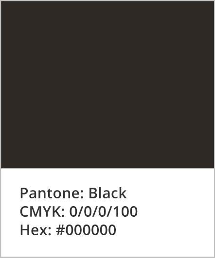 Pantone: Black; CMYK: 0,0,0,100; Hex: #000000