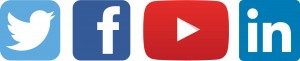 UMaine social media icons: Twitter, facebook, youtube and linkedin