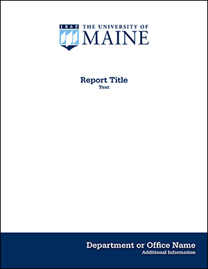 Report cover example for UMaine