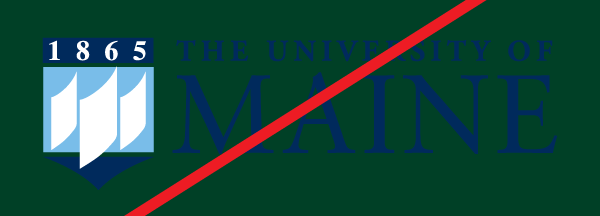 example of the UMaine logo on a background that it too dark