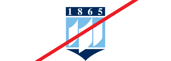 example of using the wrong standalone crest with 1865