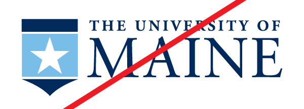 Example of a bad change on the UMaine crest to be a star