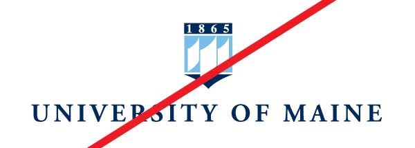 example of wrong horizontal and stacking logo