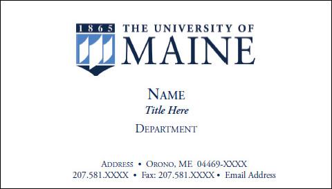 Umaine business card example