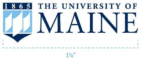 UMaine logo size