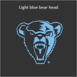 Light blue bear head logo