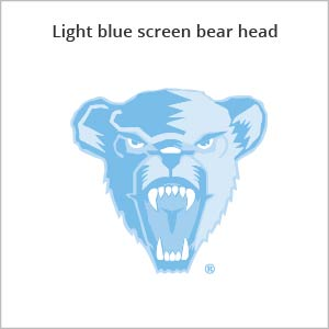 Light blue screen bear head logo