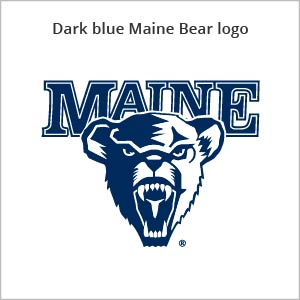 Dark blue Maine bear logo