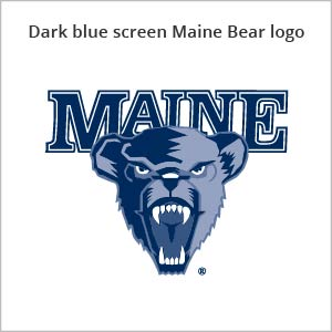 Dark blue screen Maine bear logo
