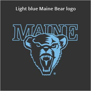 Light blue Maine bear logo