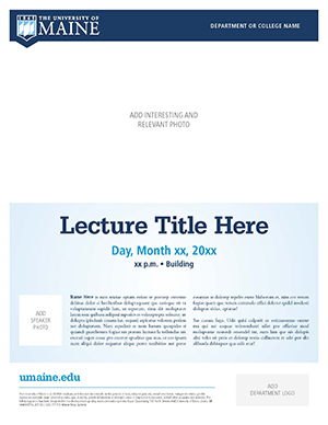 flyer example 1 for UMaine
