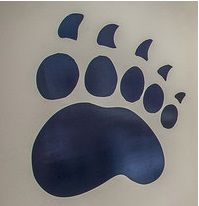 Black Bear paw logo