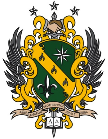 alpha delta fraternity crest