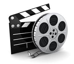 Film reel and a movie board marker.