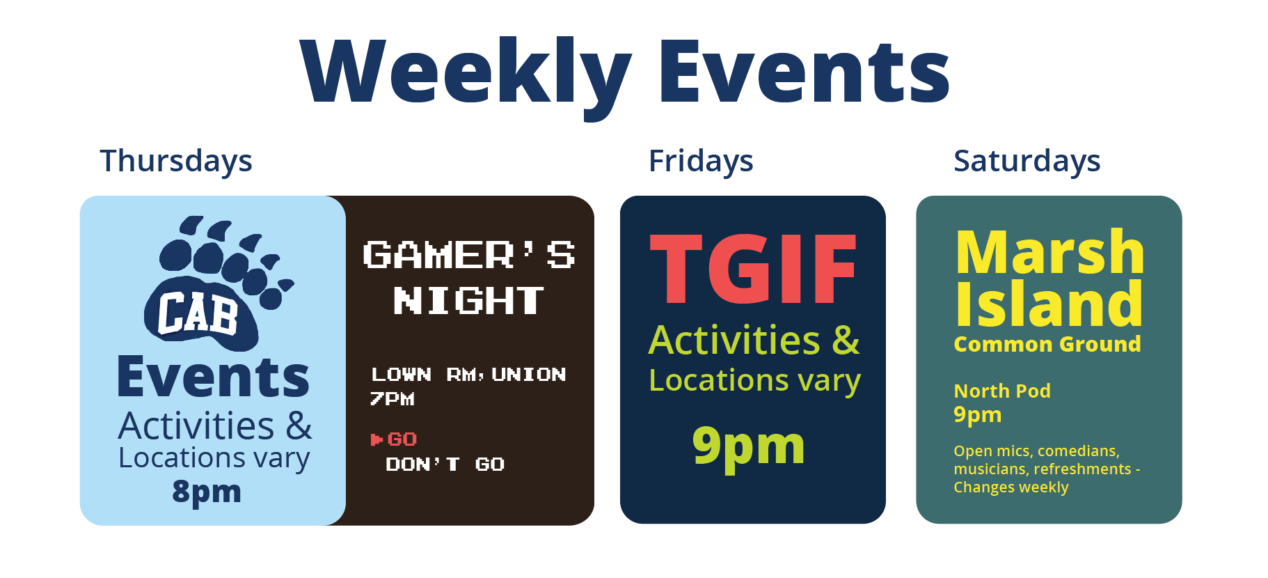 Weekly Events graphic