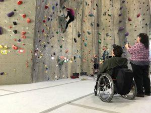 climbing participant in wheelchair