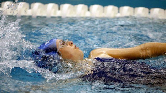 Swimmer in Lane