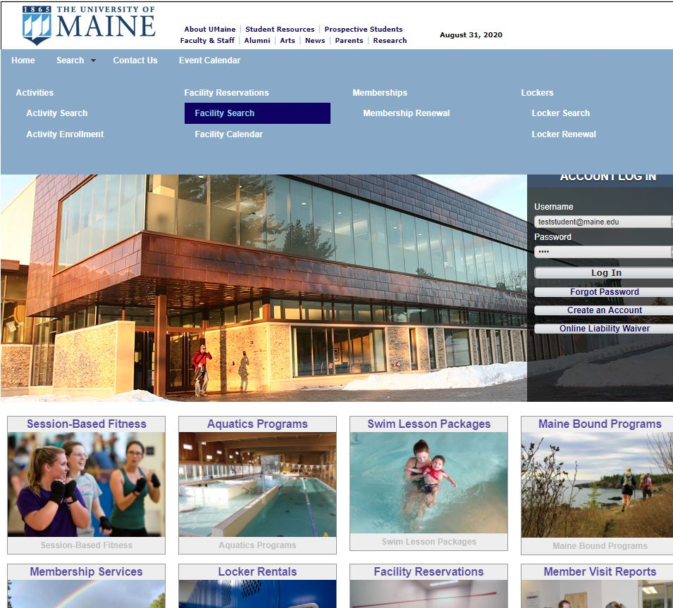 webtrac splash page