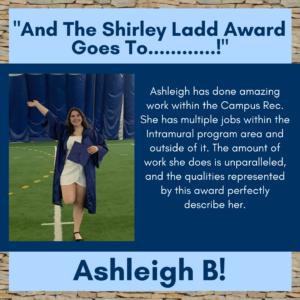 Shirley Ladd Award Winner Ashleigh B.