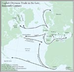 Figure 1.3 English Overseas Trade in the Late Sixteenth Century
