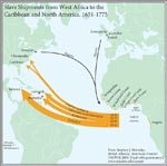Figure 2.12 Slave Shipments from West Africa to the Caribbean and North America, 1651-1775