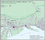 Figure 4.16 Settlement in the Mid-Atlantic colonies, 1760