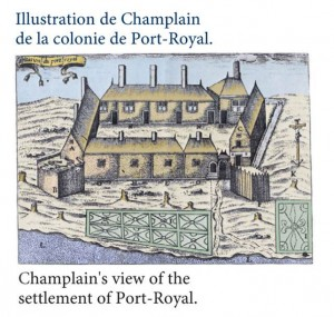 Champlain's drawing of port royal