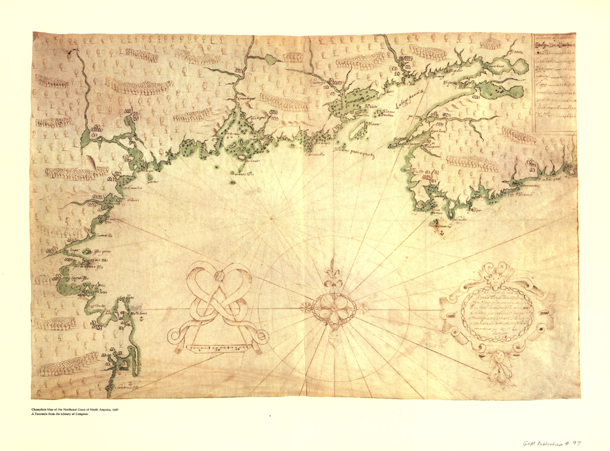 Champlain and the settlement of acadia 1604 1607 canadian american champlains map of gulf freerunsca Image collections