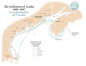 settlement of acadia map