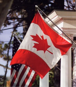 Canadian-American Center flags