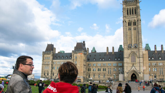 UMaine Students Gather on Parliament Hill