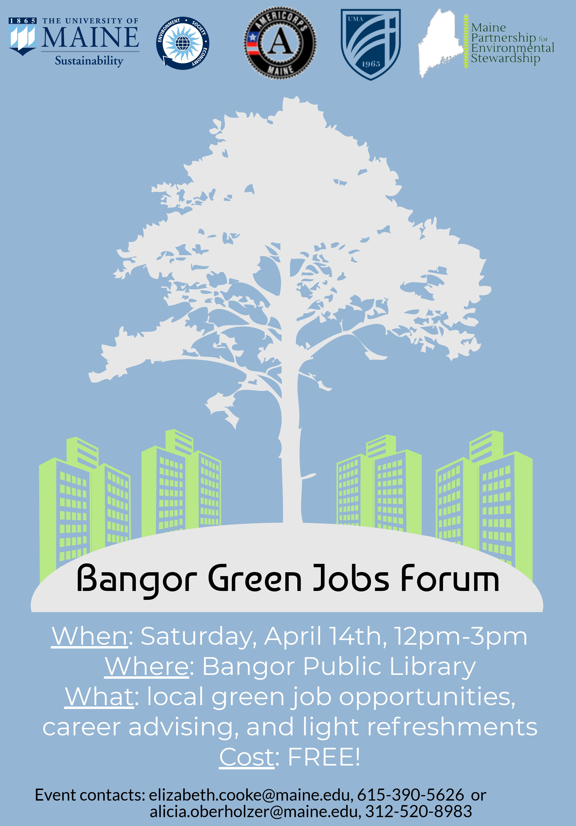 Bangor Green Jobs Forum - Career Center - University of Maine